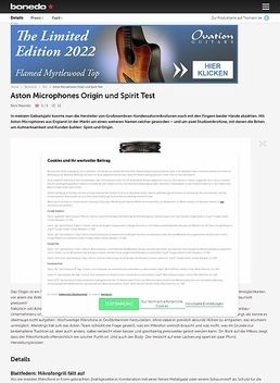 Aston Microphones Origin und Spirit