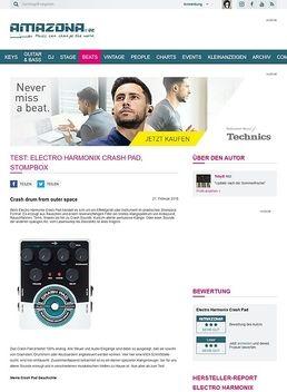 Test: Electro Harmonix Crash Pad, Stompbox