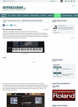 Test: Roland E-A7, Arranger Keyboard