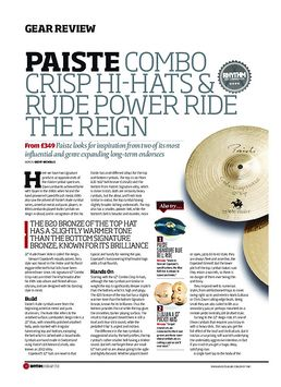 Paiste Combo Crisp Hi Hats & Rude Power Ride The Reign