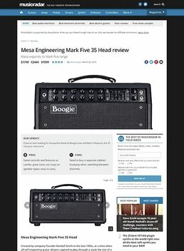 Mesa Engineering Mark Five 35 Head