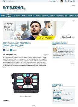 Test: TC-Helicon Perform-V, Mikrofonprozessor