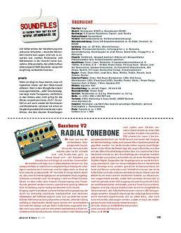 Radial Tonebone Bassbone V2, Bass Preamp