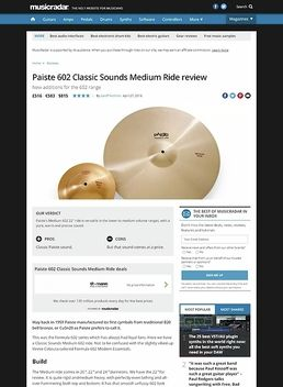 Paiste 602 Classic Sounds Medium Ride