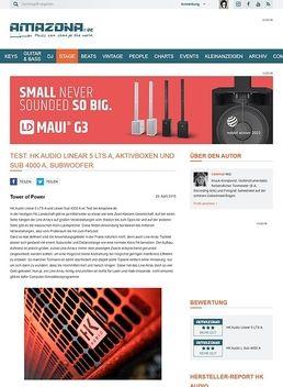 Test: HK Audio Linear 5 LTS A, PA-Lautsprecher und Sub 4000 A, Subwoofer