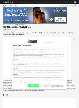 Heritage Audio 73EQ JR Test