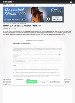Tama S.L.P. 14 x6,5 G-Walnut Snare