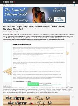 Vic Firth Jen Ledger, Ray Luzier, Keith Moon und Chris Coleman Signature Sticks