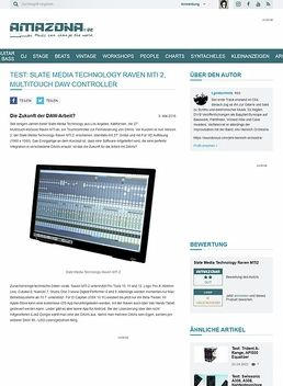 Test: Slate Media Technology Raven MTi 2, Multitouch DAW Controller