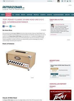Test: Peavey Classic 20 Mini Head und 212-C Box, Gitarrenverstärker