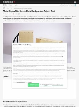 Meinl Cajon2Go Stand-Up & Backpacker Cajons