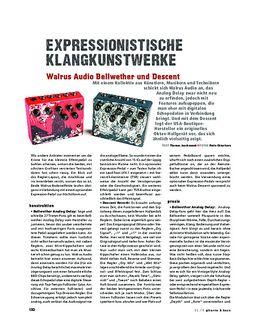 Walrus Audio Bellwether und Descent, FX-Pedale