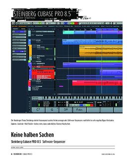 Update-Check: Steinberg Cubase PRO 8.5 - Software-Sequenzer