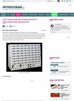 Test: Analogue Solutions Megacity, analoger Step-Sequencer