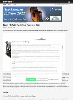 Zoom F8 Multi Track Field Recorder Test