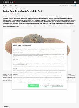 Zultan Raw Series Profi Cymbal Set