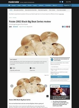 Paiste 2002 Black Big Beat Series
