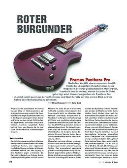 Framus Panthera Pro, E-Gitarre