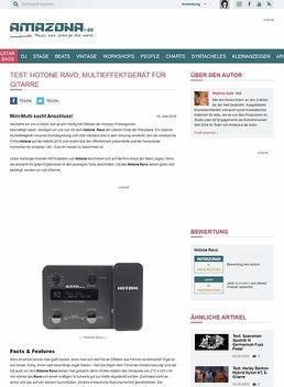 Test: Hotone Ravo, Multieffektgerät für Gitarre