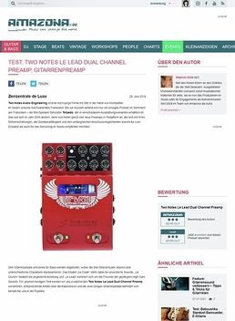 Test: Two Notes Le Lead Dual Channel Preamp, Gitarrenpreamp