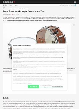 Tama Soundworks Kapur Snaredrums Test