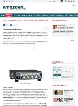 Test: DV Mark Micro 50, Gitarrenverstärker