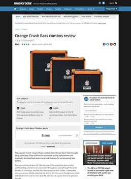Orange Crush Bass combos
