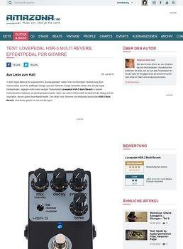 Test: Lovepedal HSR-3 Multi Reverb, Effektpedal für Gitarre