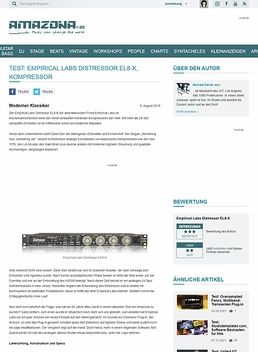 Test: Empirical Labs Distressor EL8-X, Kompressor