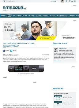 Test: Apogee Symphony I/O MKII, Audiointerface