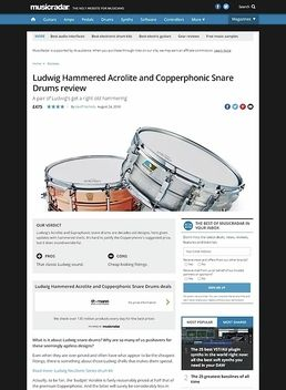 Ludwig Hammered Acrolite and Copperphonic Snare Drums