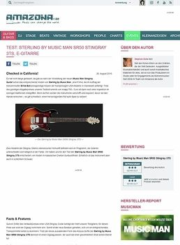 Test: Sterling by Music Man SR50 Stingray 3TS, E-Gitarre