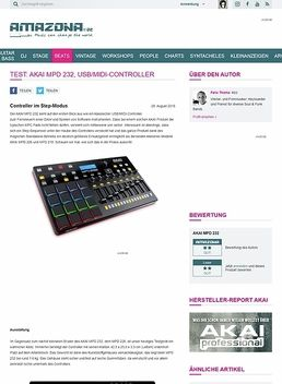 Test: AKAI MPD 232, USB/MIDI-Controller
