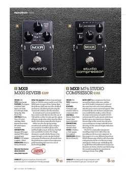 MXR M300 Reverb and M76 Studio Compressor