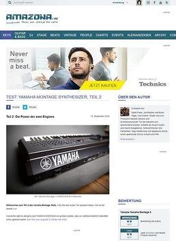 Test: Yamaha Montage Synthesizer, Teil 2