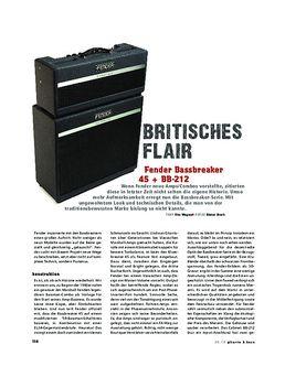 Fender Bassbreaker 45 + BB-212, Gitarren-Anlage