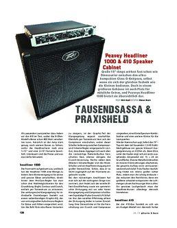 Peavey Headliner 1000 & 410 Speaker Cabinet, Bass-Anlage