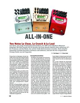 Two Notes Le-Preamp-Serie, Preamp-Pedale