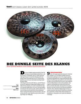 Meinl Classics Custom Dark Cymbal-Neuheiten 2016