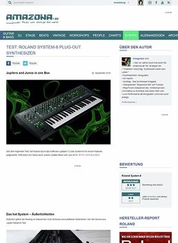Test: Roland System-8, Synthesizer