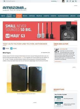 Test: Alto TS 212W und TS 215W, Aktivboxen