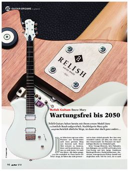 Relish Guitars Snow Mary