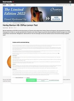 Harley Benton HB-35Plus Lemon