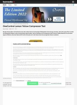 OneControl Lemon Yellow Compressor