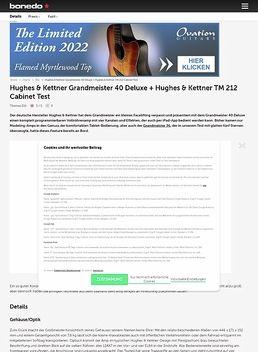 Hughes & Kettner Grandmeister 40 Deluxe + Hughes & Kettner TM 212 Cabinet