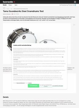 Tama Soundworks Steel Snaredrums