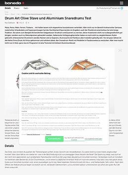 Drum Art Olive Stave und Aluminium Snaredrums