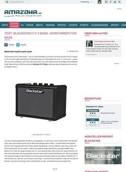Test: Blackstar FLY 3 Bass, Verstärker für Bass