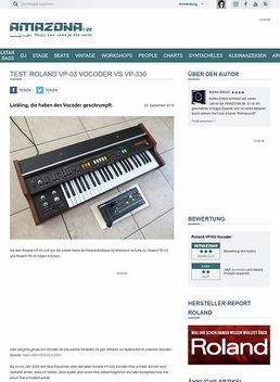 Test: Roland VP-03 Vocoder vs VP-330