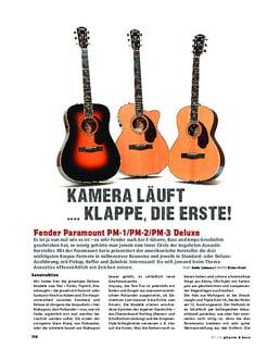 Fender Paramount Series, A-Gitarren-Trio